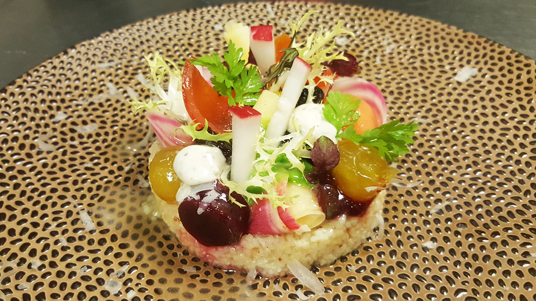 restaurant la niche vegetarisch menu