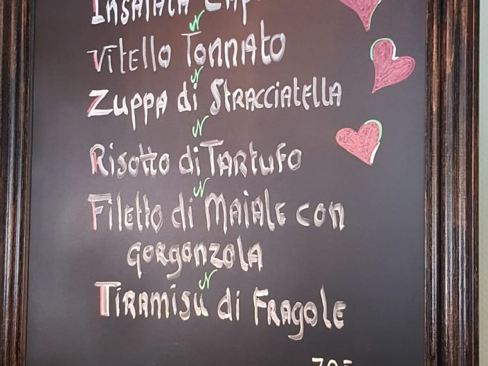 italiaans menu juni